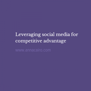 social media and competitive advantage