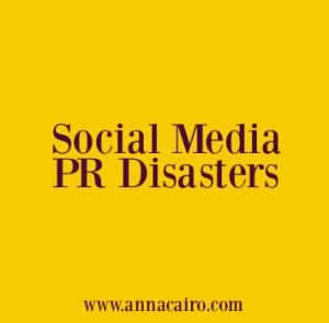 Social media PR disasters