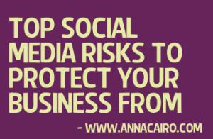 top social media risk