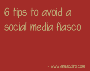 social media fiasco